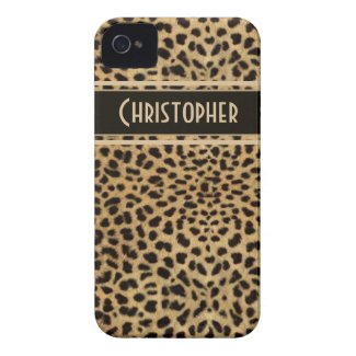Leopard Spots Pattern iPhone 4 Cases