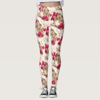 LEOPARD VALENTINE CUTE CARTOON Leggings 3