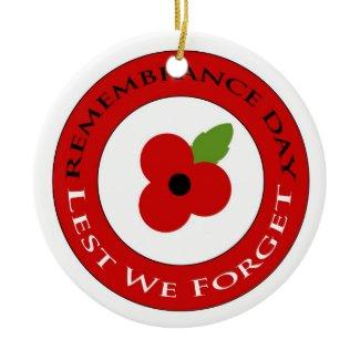Lest we forget - Ornament ornament
