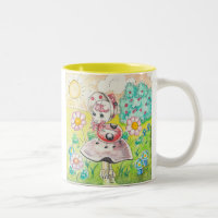 Letitia Ladybug Two-Tone Coffee Mug