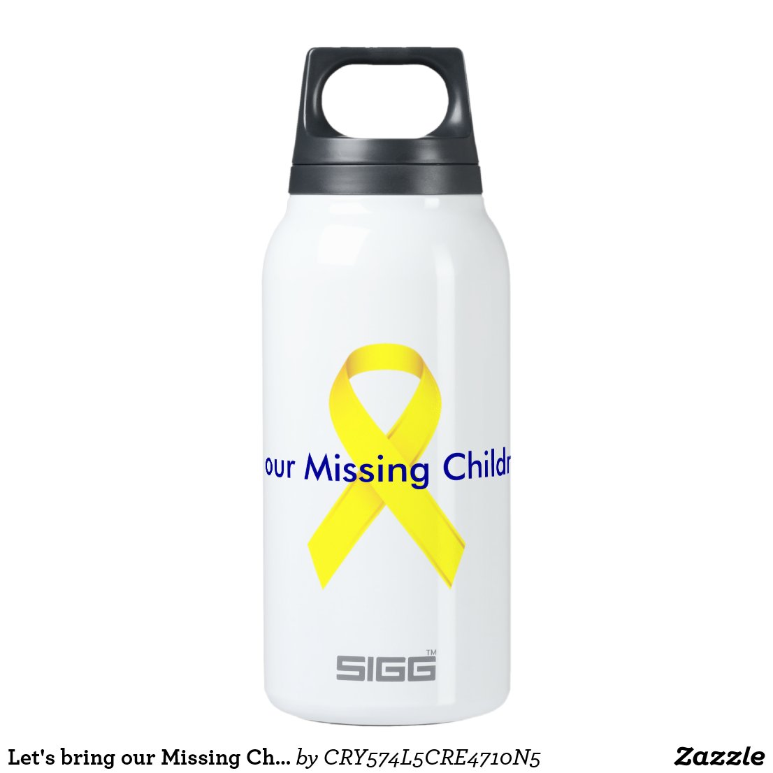 Let's Bring Our Missing Children HOME! Insulated Water Bottle