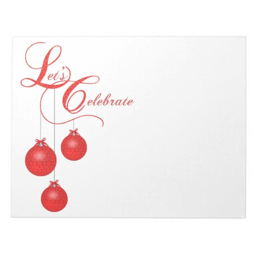 Let s celebrate red lace christmas party memo pads zazzle