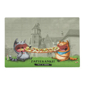 Let's Feast Placemat Laminated Place Mat