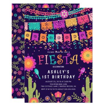 Let's Fiesta Kids Birthday Party Invitation