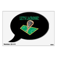 Lacrosse Wall Decals & Wall Stickers | Zazzle