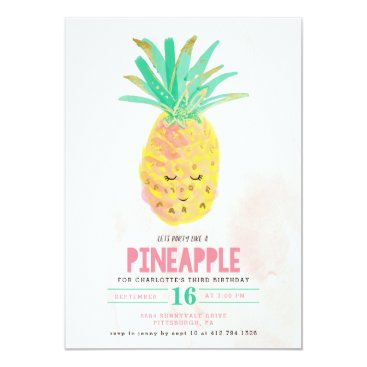 Let's Party Like a Pineapple Birthday Invitation