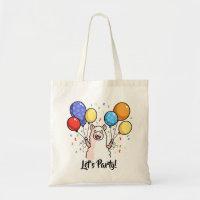 Let's Party Llama Tote Bag