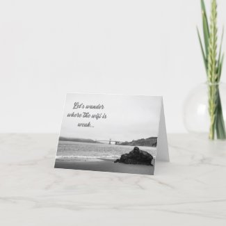 Let's Wander Thank You Card
