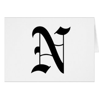 Old English N Gifts on Zazzle
