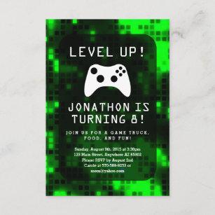 video game birthday invitations zazzle