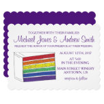 LGBT Gay Pride Rainbow Layer Wedding Cake Slice Invitation