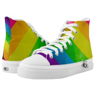 LGBT Pride Rainbow Galaxy Printed Shoes