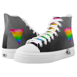 LGBT Pride Rainbow Triangle Galaxy Printed Shoes