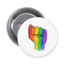 LGBTQ  Pride Button Pin