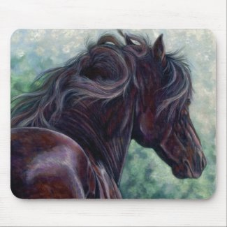 Liberty - Friesian Stallion Mouse Pad mousepad