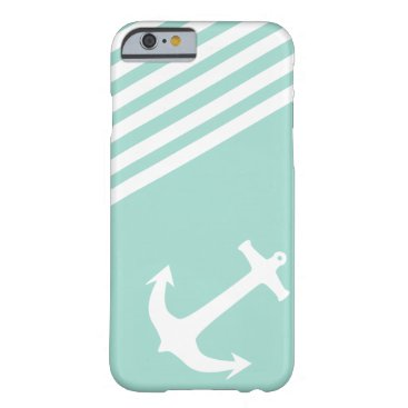 LIberty Green Nautical Anchor Barely There iPhone 6 Case