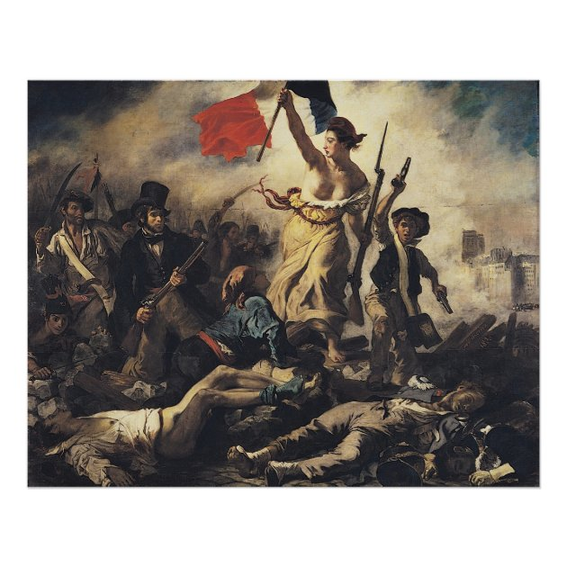 Liberty Leading The People By Eugene Delacroix Poster Zazzle