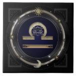 Libra Zodiac Sign Tile