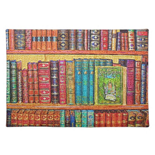 Library Books Cloth Placemat