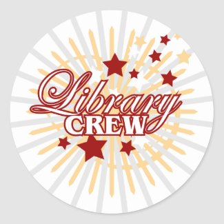 Library Crew sticker
