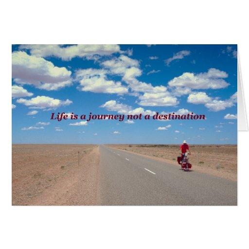Life Is A Journey Not A Destination Card Zazzle
