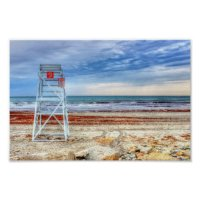 Lifeguard Beach Chair Poster Print Newport | Zazzle