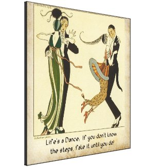 Life's a Dance: Vintage 1913 Canvas Print