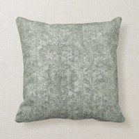Light Blue Damask Throw Pillow | Zazzle