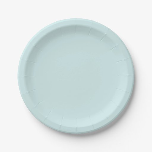 Light Cyan Solid Color Paper Plate
