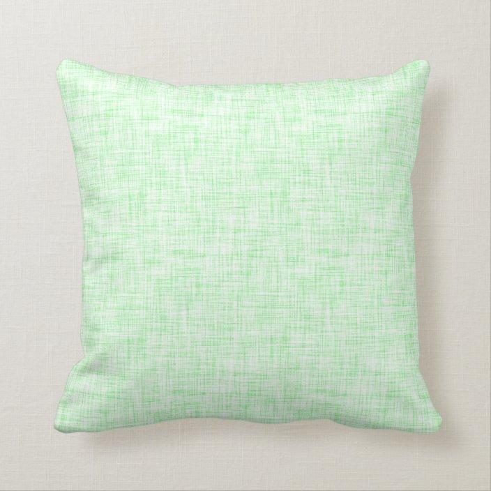 light mint green linen look background throw pillow zazzle com