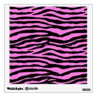 Pink Zebra Wall Decals & Wall Stickers | Zazzle