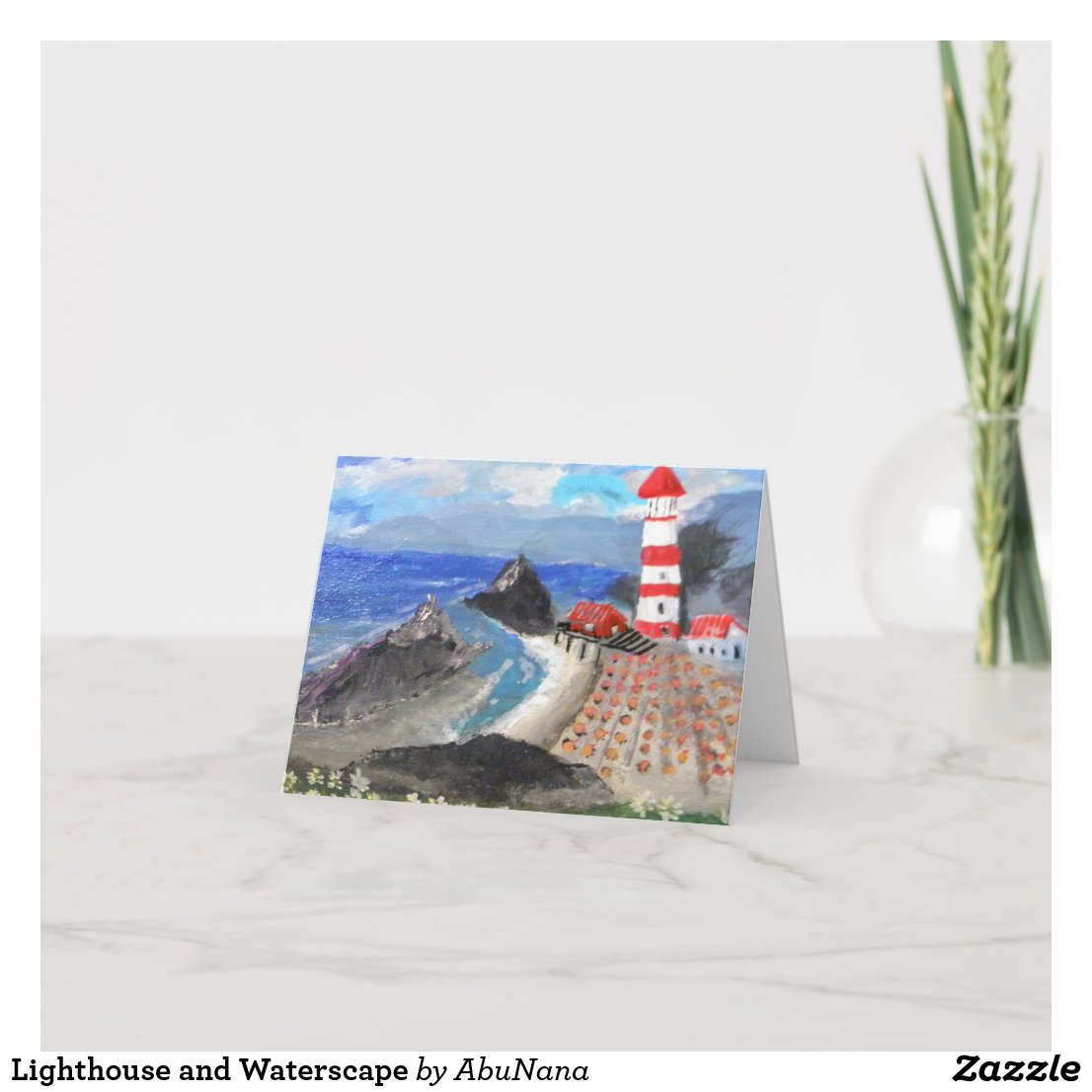 Lighthouse and Waterscape Card