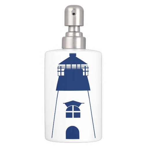 Lighthouse Navy Bathroom Set