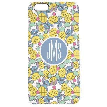 Lilo & Stitch | Monogram Pineapple Pattern 2 Clear iPhone 6 Plus Case