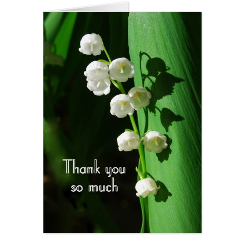 Lily of the Valley Thank You Greeting Card