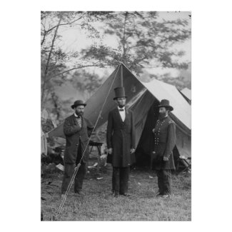 Lincoln, Pinkerton, McClernand print