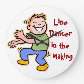 Line Dancer in the Making! (Boy) Large Clock