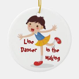 Line Dancer in the Making! - Girl Ceramic Ornament
