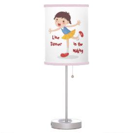 Line Dancer in the Making! - Girl Desk Lamp