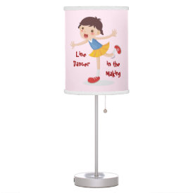 Line Dancer in the Making! - Girl Table Lamp
