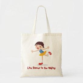 Line Dancer in the Making! - Girl Tote Bag