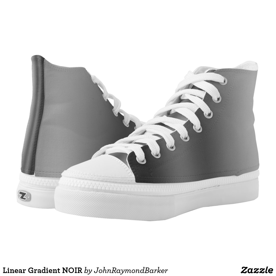 Linear Gradient NOIR High-Top Sneakers
