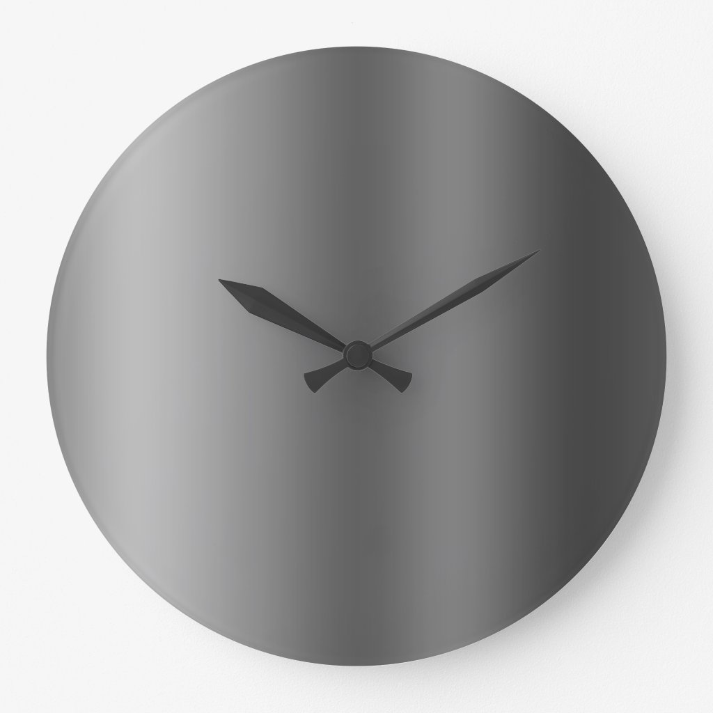 Linear Gradient NOIR Large Clock
