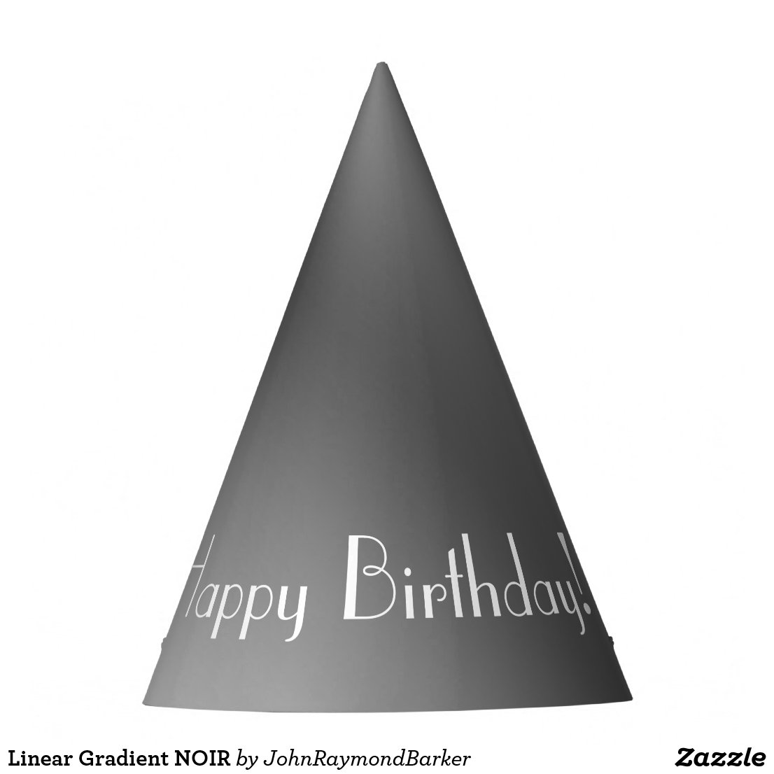 Linear Gradient NOIR Party Hat