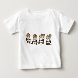 Linedancing Cows Baby T-Shirt