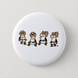 Linedancing Cows Pinback Button