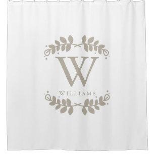 Monogram Shower Curtains  Zazzle