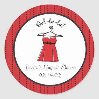 Lingerie Bridal Shower Stickers