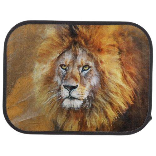 Lion Digital Oil Painting Car Floor Mat