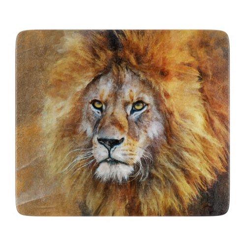 Lion Digital Oil Painting Cutting Board